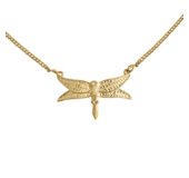 Happy Hippies DRAGONFLY NECKLACE GOLD