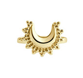 Happy Hippies PLATED MOON RING GOLD