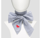 Pinned By K BOW STRIPE HEART